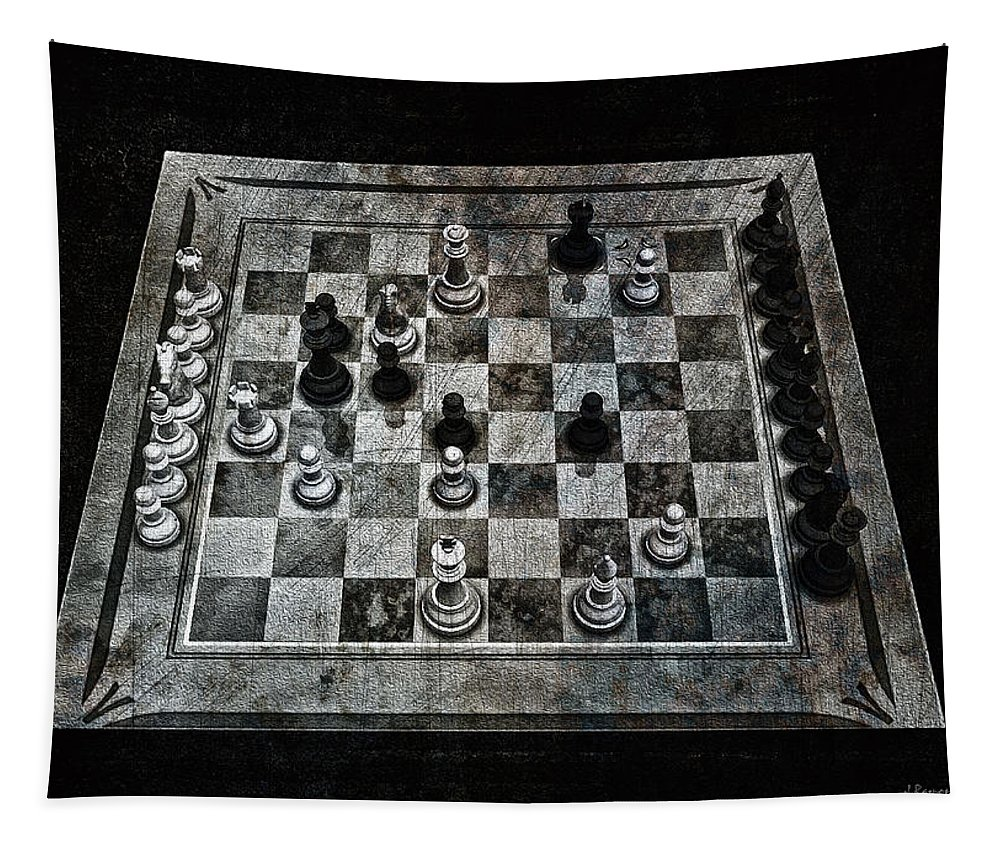 Checkmate In One Move Tapestry featuring the digital art Checkmate In One Move by Ramon Martinez