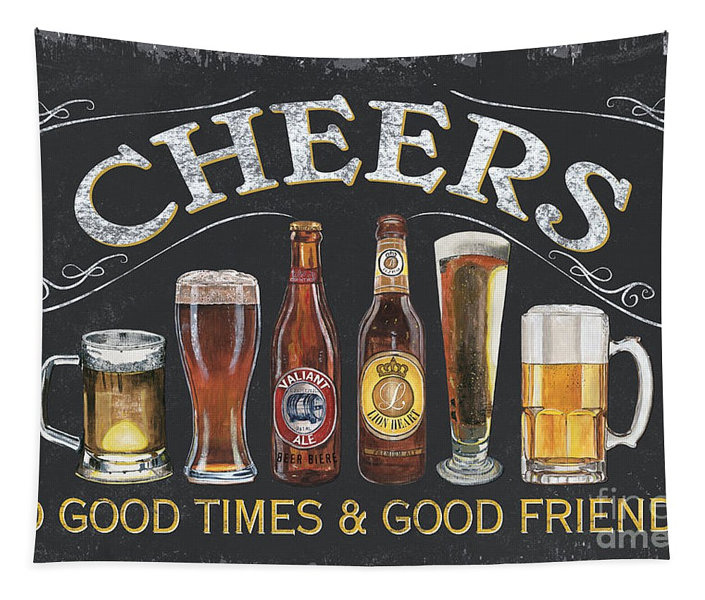 Cheers Tapestry featuring the painting Cheers by Debbie DeWitt