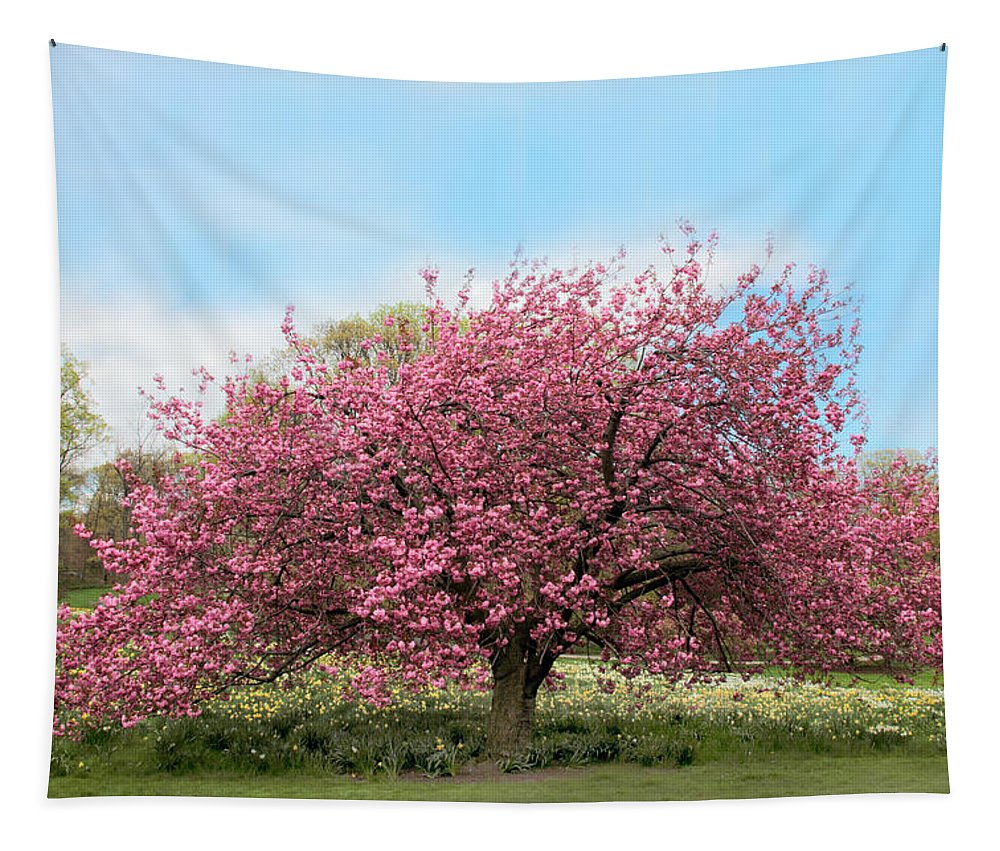 Nature Tapestry featuring the photograph Cherry Grove by Jessica Jenney