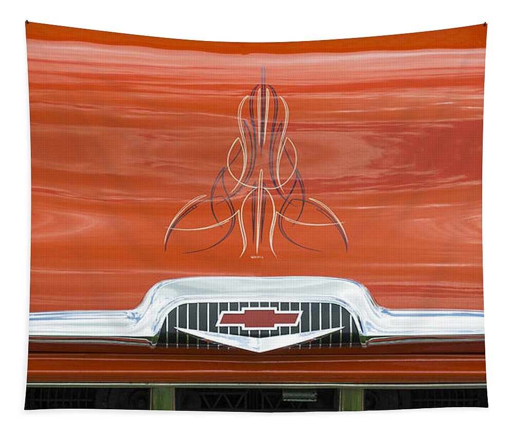 Chevrolet Tapestry featuring the photograph Chevrolet 30-1956 Hydramatic 3100 by Wendy Wilton