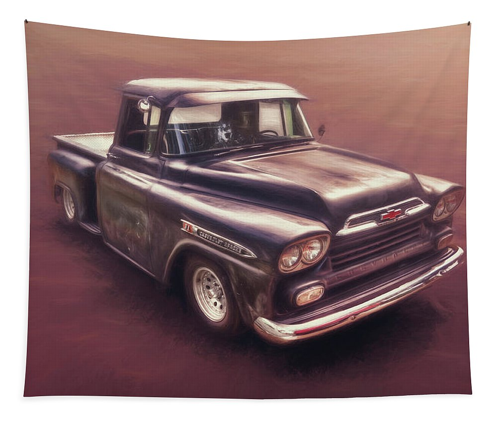 Classic Car Tapestry featuring the photograph Chevrolet Apache Pickup by Scott Norris