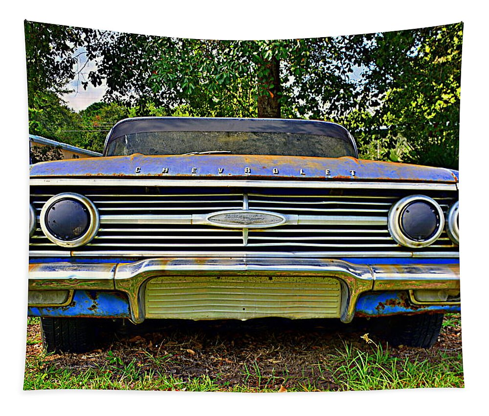 Chevrolet Bel Air 5 Tapestry featuring the photograph Chevrolet Bel Air 5 by Lisa Wooten