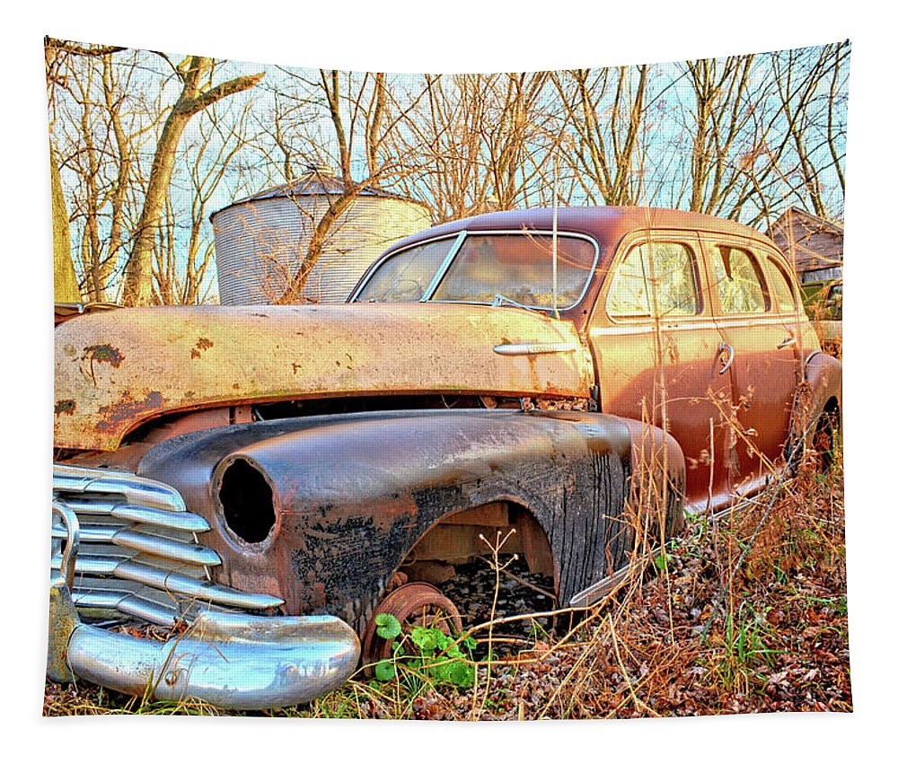 Car Tapestry featuring the photograph Chevrolet Relic by Bonfire Photography