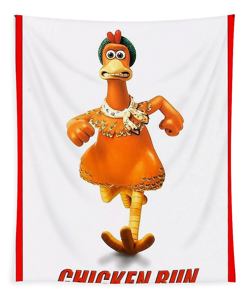 Chicken Run Tapestry featuring the photograph Chicken Run B by Movie Poster Prints