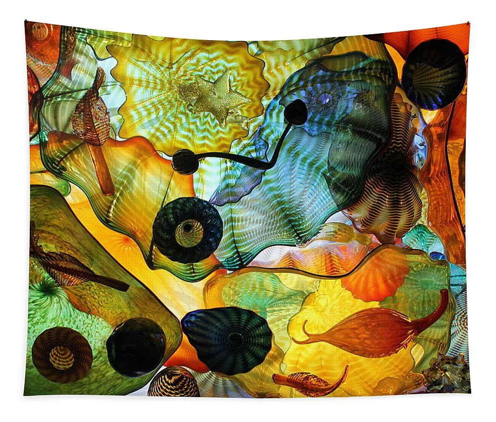 Glass Tapestry featuring the photograph Chihuly's Ceiling by Laurel Talabere