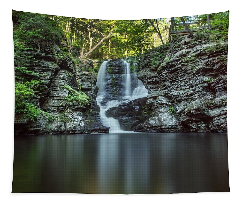 Waterfall Tapestry featuring the photograph Child's Park Waterfall 2 by Eleanor Bortnick
