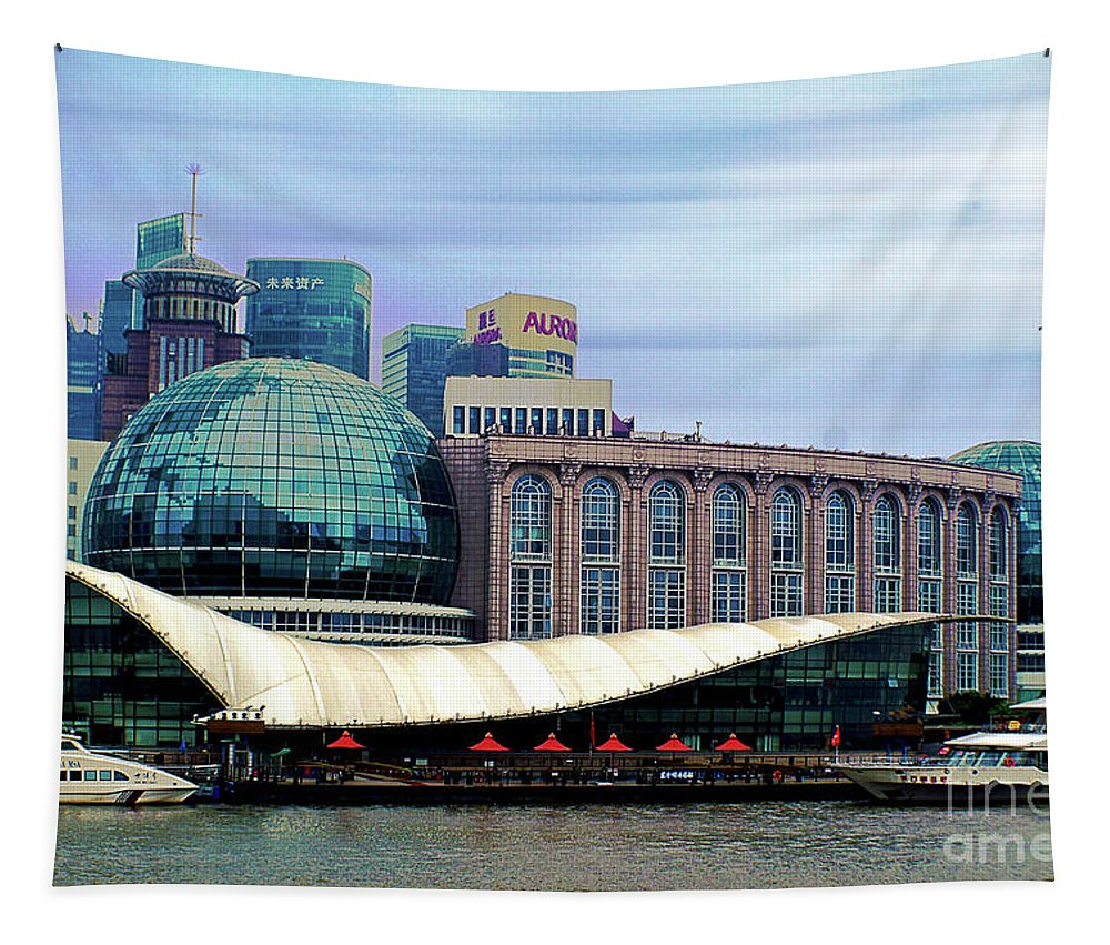 Landscape Tapestry featuring the photograph China 35 by Ben Yassa