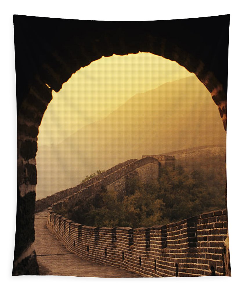 Afar Tapestry featuring the photograph China, Mu Tian Yu by Gloria & Richard Maschmeyer - Printscapes