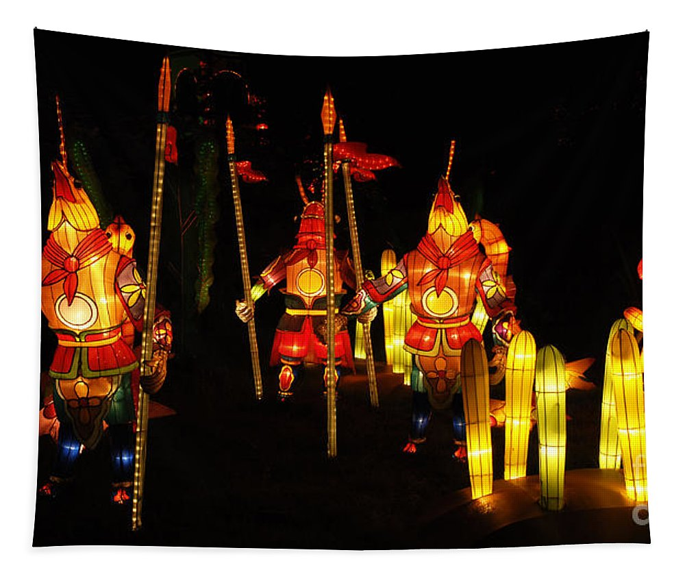 Lantern Tapestry featuring the photograph Chinese Lantern Festival British Columbia Canada 9 by Bob Christopher