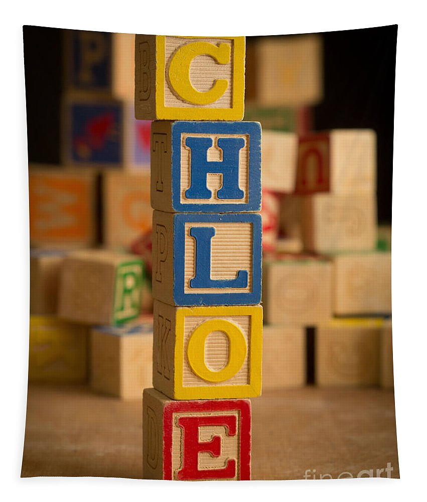Alphabet Tapestry featuring the photograph Chloe - Alphabet Blocks by Edward Fielding