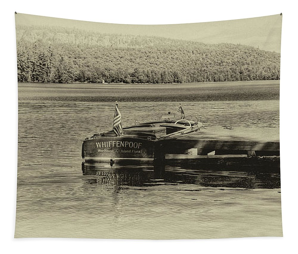 1958 Chris-craft Continental Tapestry featuring the photograph Vintage 1958 Chris Craft by David Patterson