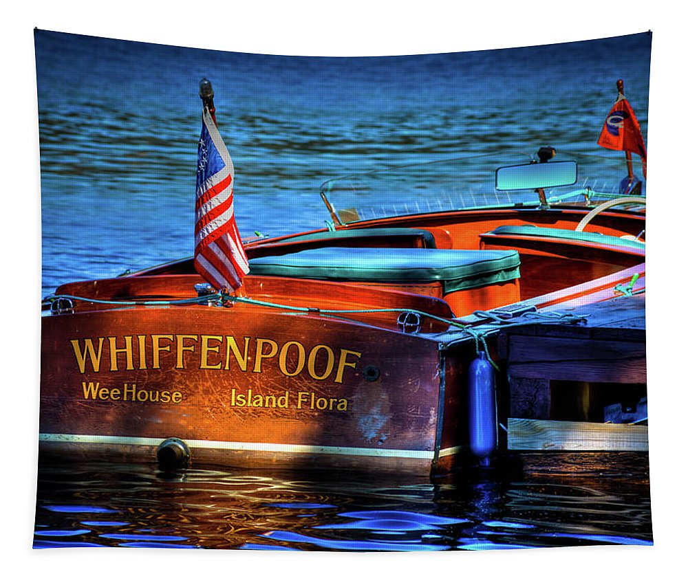 1958 Chris-craft Continental Tapestry featuring the photograph 1958 Chris Craft Utility Boat by David Patterson
