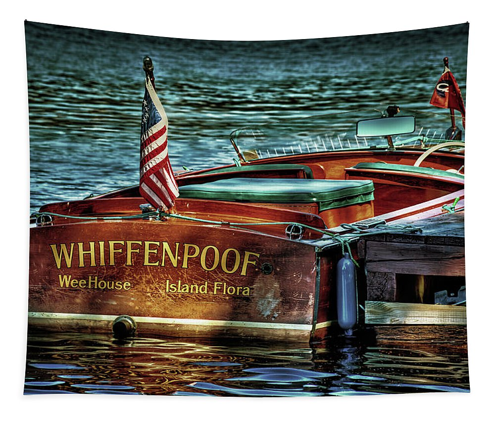 1958 Chris-craft Continental Tapestry featuring the photograph Chris Craft Continental - 1958 by David Patterson