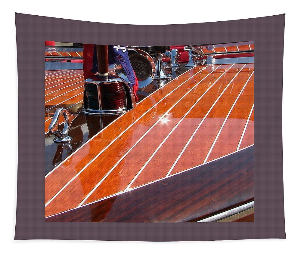 Chriscraft Tapestry featuring the photograph Chris Craft Bow by Michelle Calkins