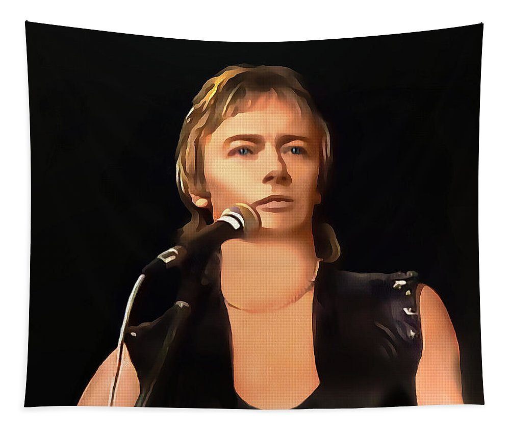 Chris Norman Poster Tapestry featuring the painting Young Chris Norman by Sergey Lukashin