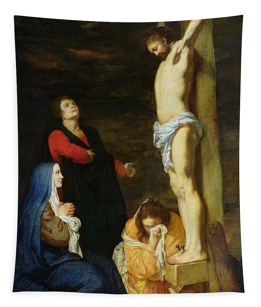Christ Tapestry featuring the painting Christ On The Cross by Gerard de Lairesse