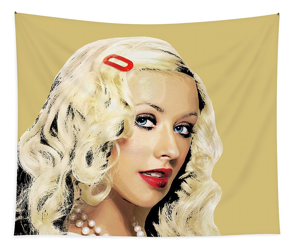 Christina Tapestry featuring the photograph Christina Aguilera by Dominic Piperata