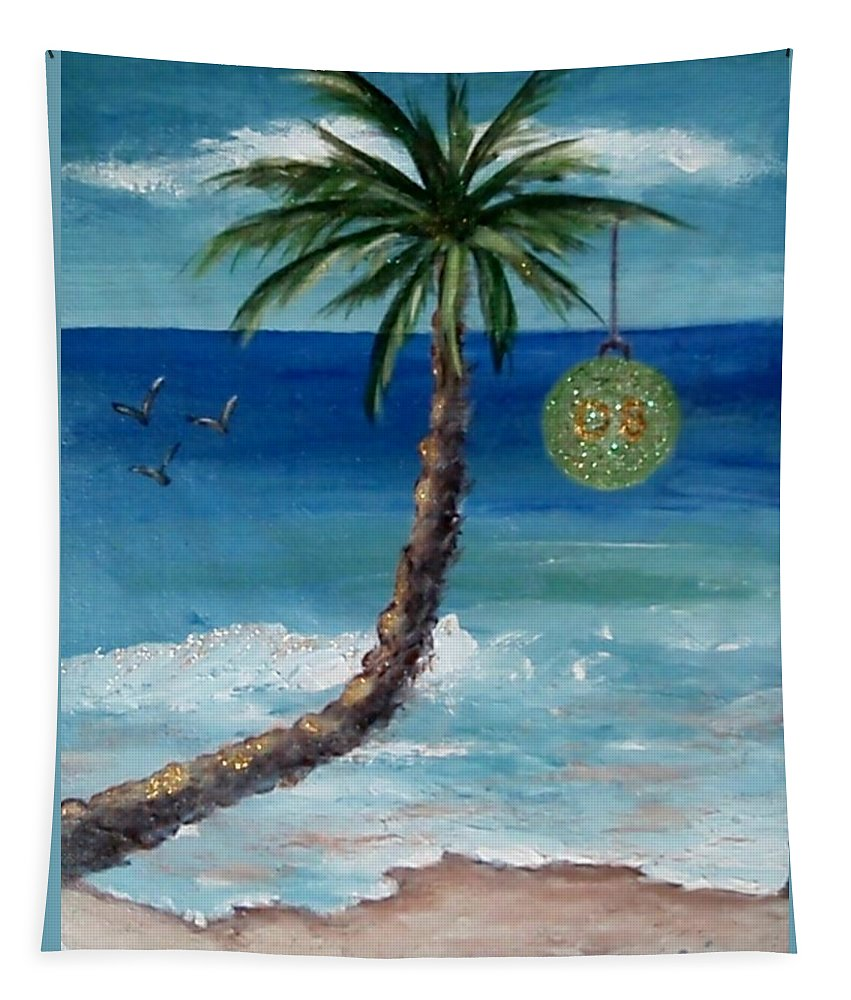 Christmas Tapestry featuring the painting Christmas 2008 by Jamie Frier