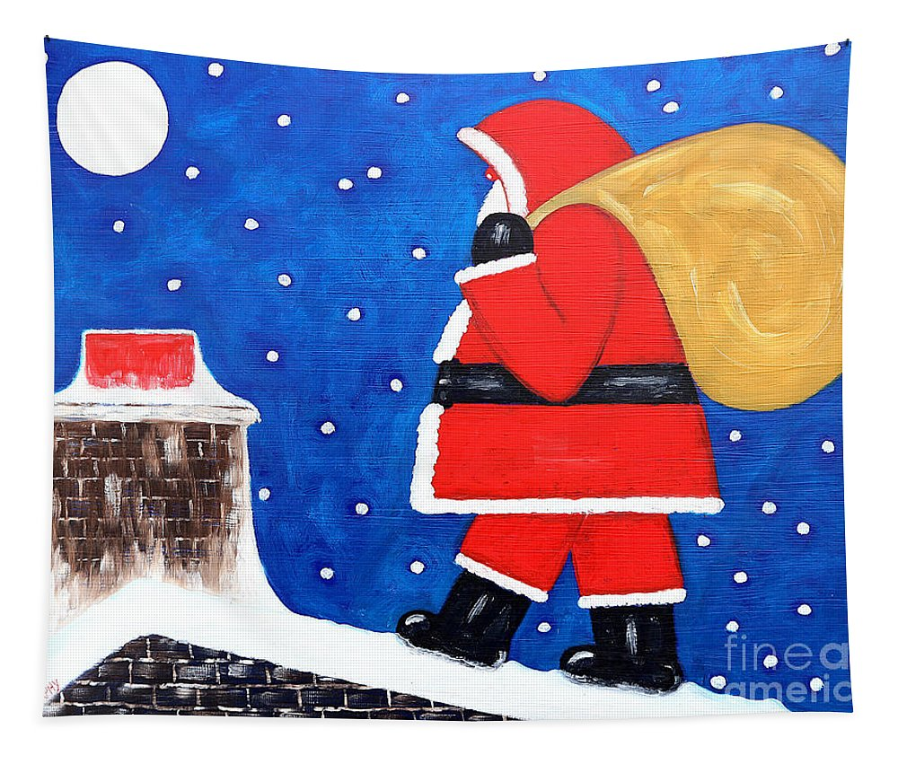 Christmas Tapestry featuring the painting Christmas Eve by Patrick J Murphy