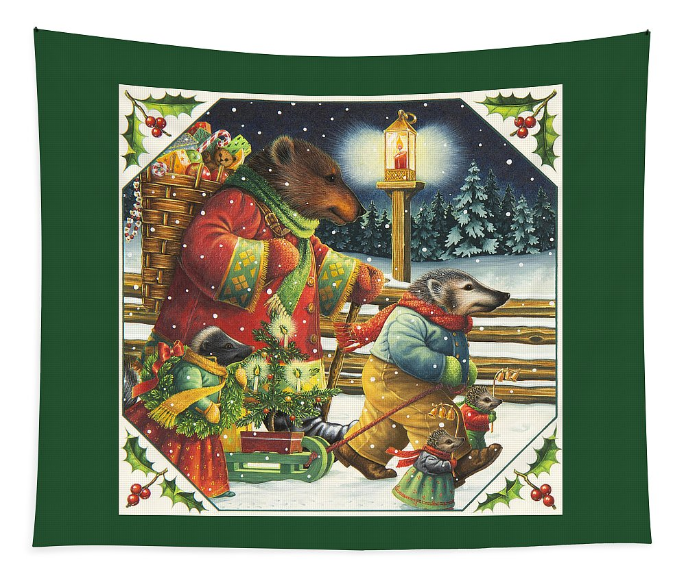 Christmas Tapestry featuring the painting Christmas Journey by Lynn Bywaters