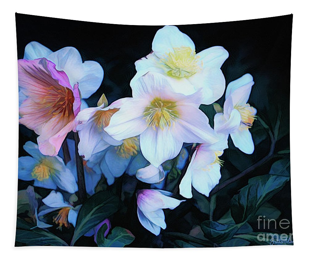 Photo Tapestry featuring the photograph Christmas Rose by Jutta Maria Pusl