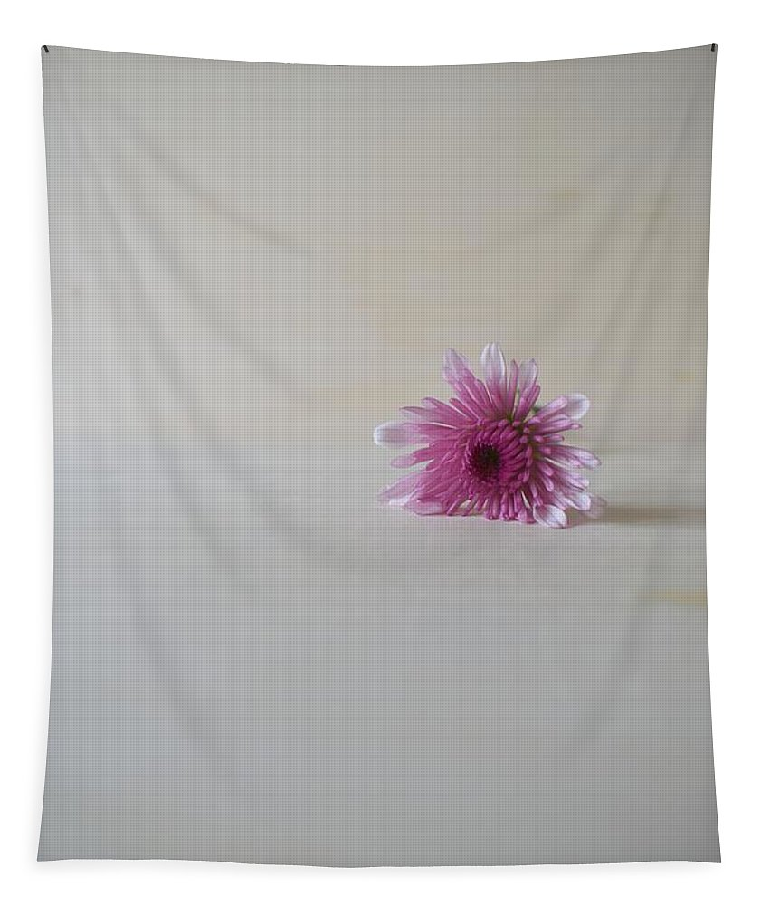 Minimalist Tapestry featuring the photograph Chrysanthemum #014 by Ninie AG