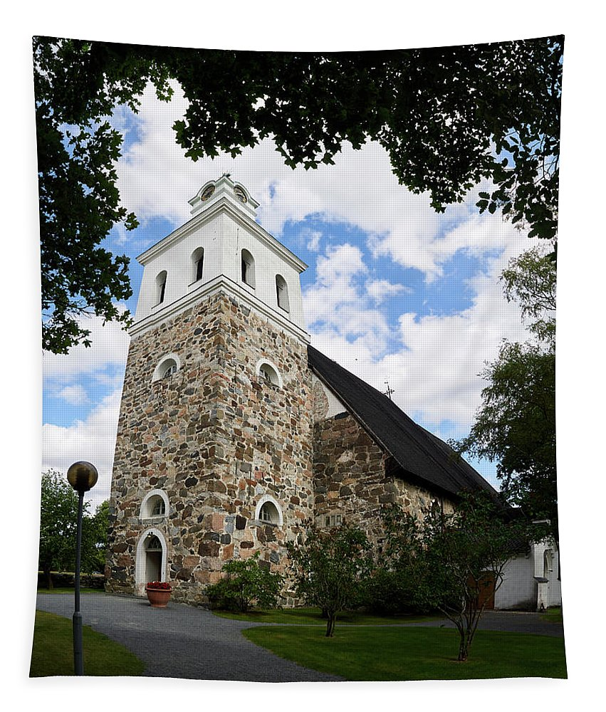 Finland Tapestry featuring the photograph Church Of The Holy Cross At Rauma by Jouko Lehto