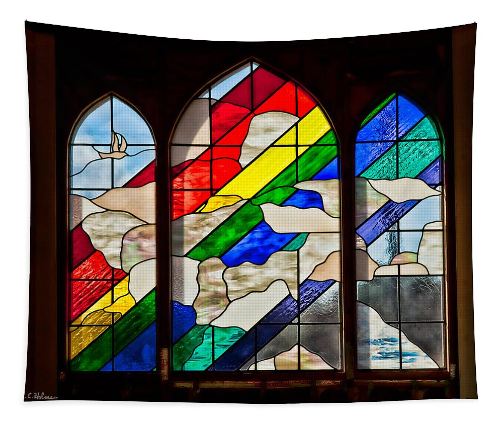 Architecture Tapestry featuring the photograph Church Window by Christopher Holmes