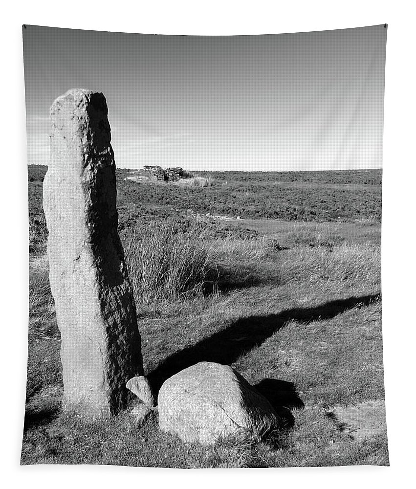 Standing Stone Tapestry featuring the photograph Churn Milk Joan by Philip Openshaw
