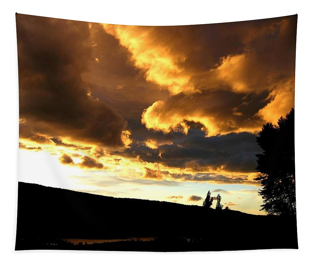 Sunset Tapestry featuring the photograph Churning Clouds 1 by Will Borden