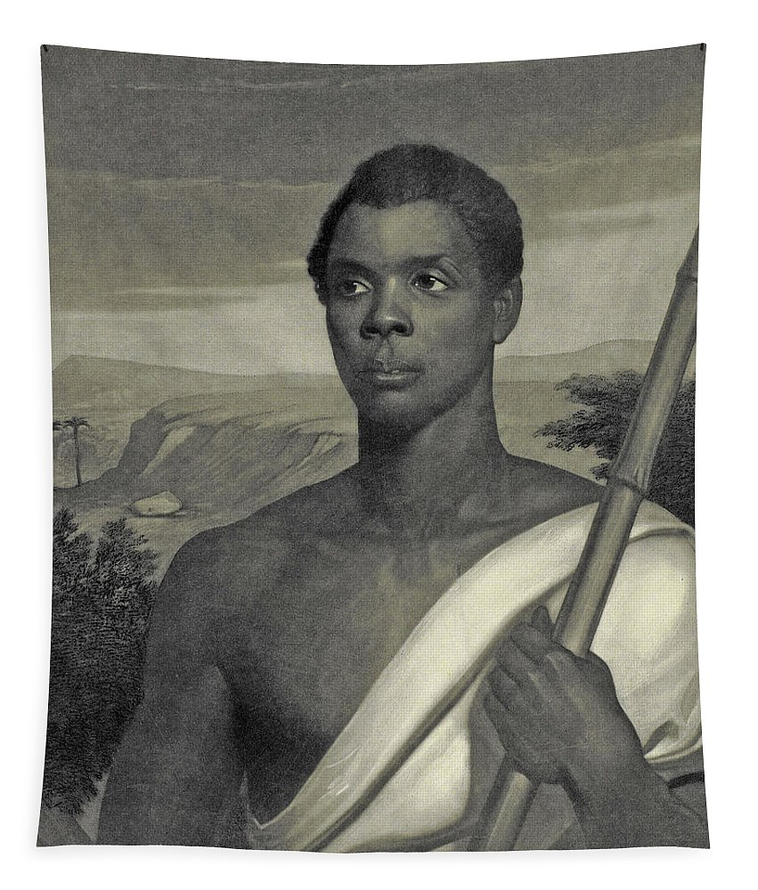 Amistad Tapestry featuring the painting Cinque, The Chief Of The Amistad Captives by J Sartain