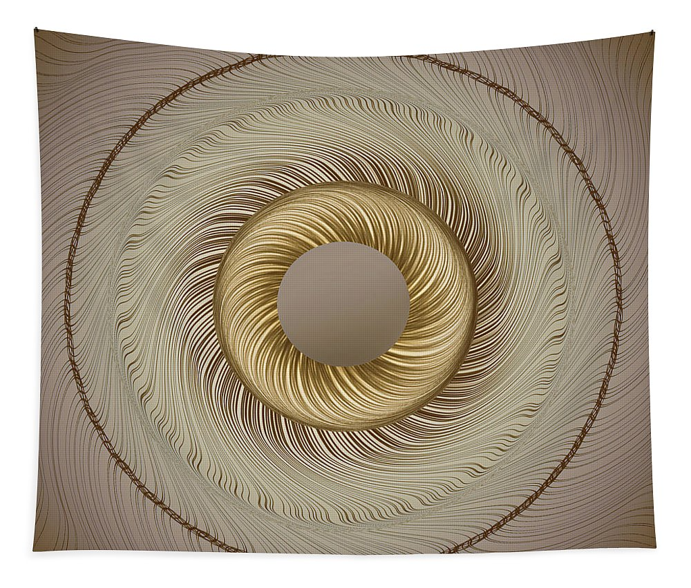Abstract Tapestry featuring the photograph Circular Abastract Art 5 by Eleanor Bortnick