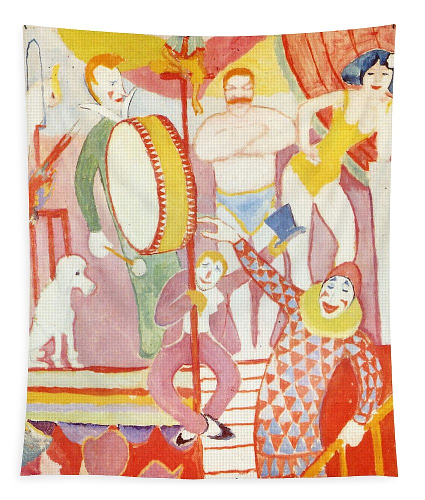 August Macke Tapestry featuring the painting Circus by August Macke