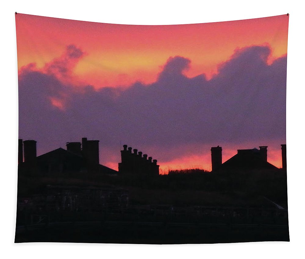 Citadel Tapestry featuring the photograph Citadel Hill At Sunrise by Celtic Artist Angela Dawn MacKay