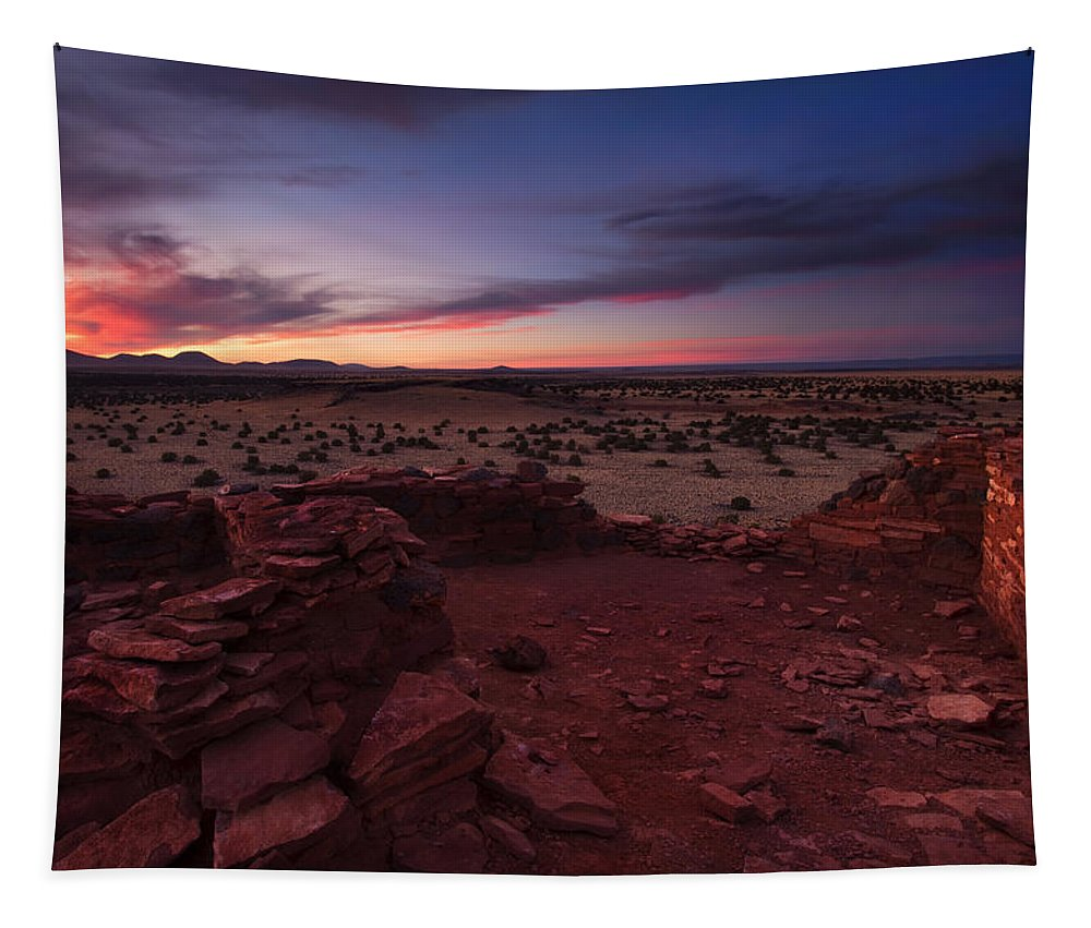Pueblo Tapestry featuring the photograph Citadel Sunset by Mike Dawson