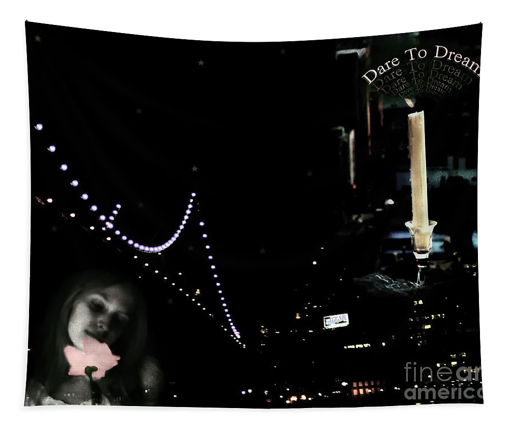 City Tapestry featuring the photograph City Of Dreams by Madeline Ellis