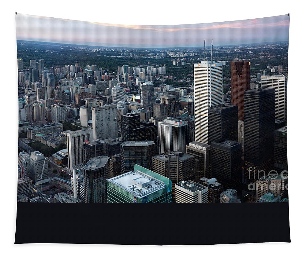 Toronto Tapestry featuring the photograph City Of Toronto Downtown by Oleksiy Maksymenko