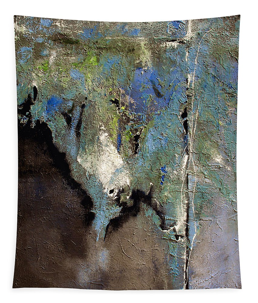 Abstract Tapestry featuring the painting Clandestine by Ruth Palmer