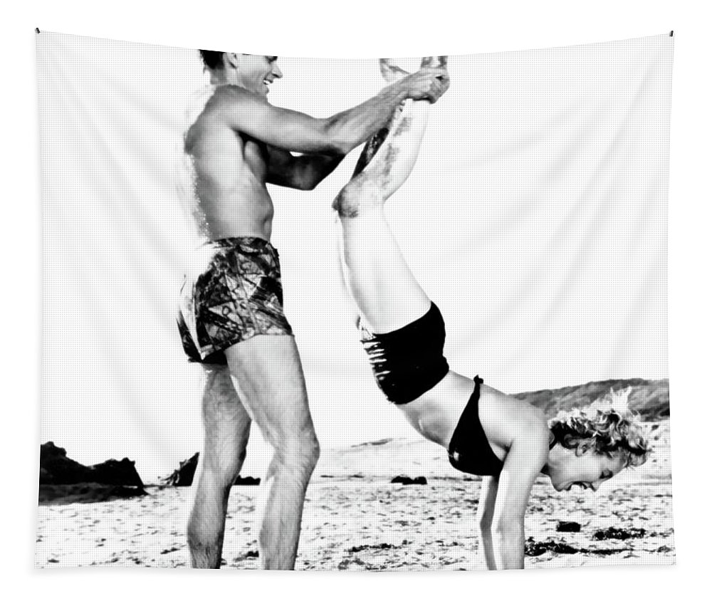 Rko Tapestry featuring the photograph Clash By Night With Marilyn Monroe by R Muirhead Art
