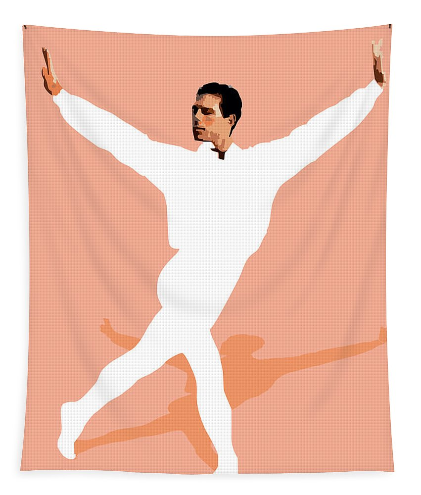 Dancer Tapestry featuring the digital art Ballet Master Dancer by Joaquin Abella