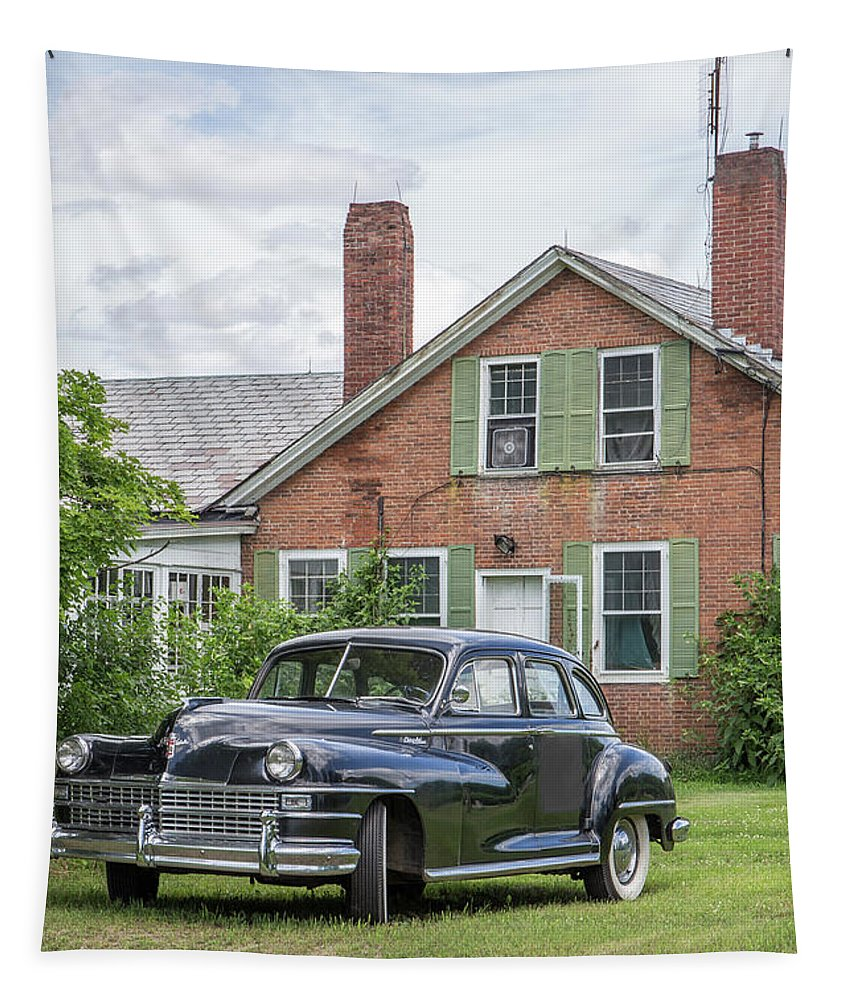 Car Tapestry featuring the photograph Classic Chrysler 1940s Sedan by Edward Fielding