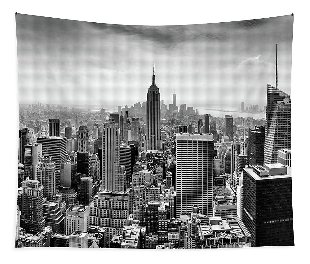 Empire State Building Tapestry featuring the photograph Classic New York by Az Jackson