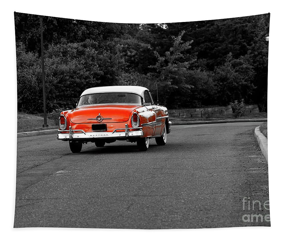 Classic Car Tapestry featuring the photograph Classic Old Ford Mercury by Sam Rino