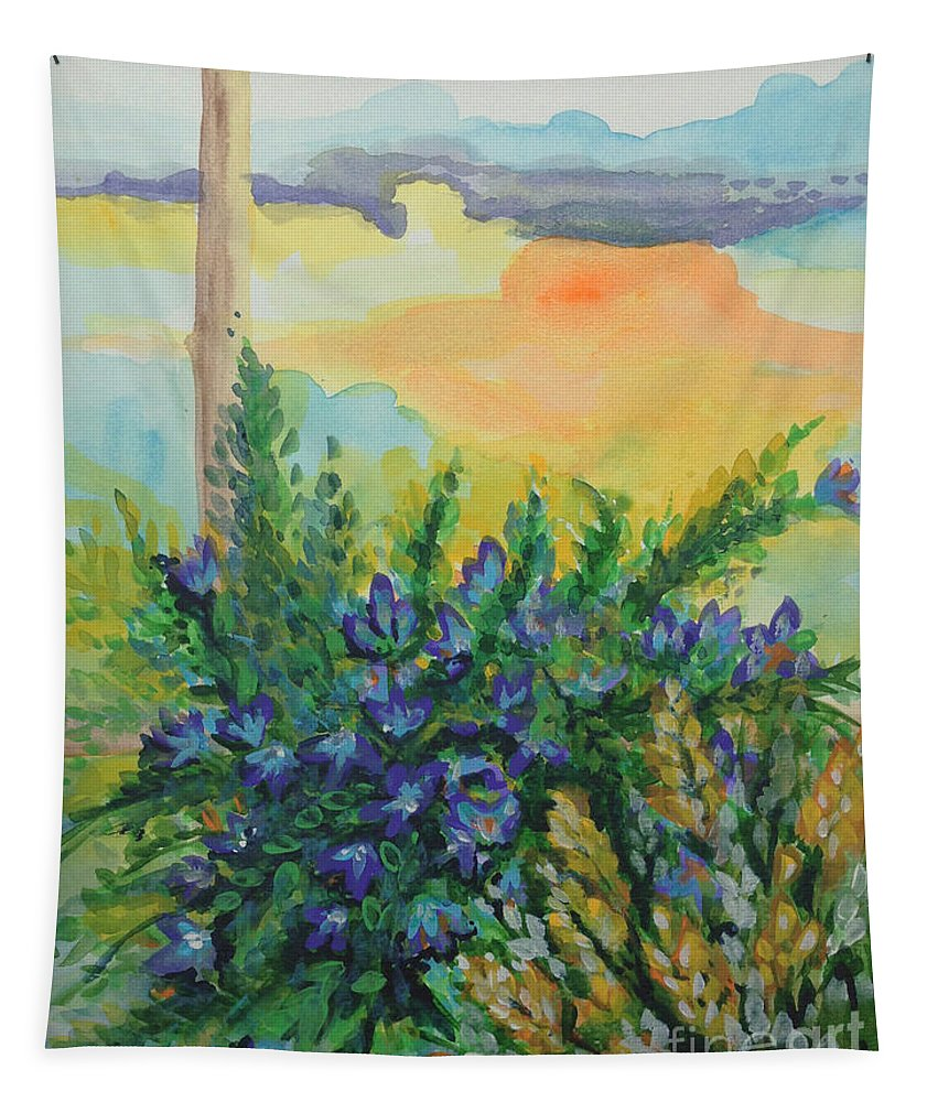 Refreshing Tapestry featuring the painting Cleansed by Holly Carmichael