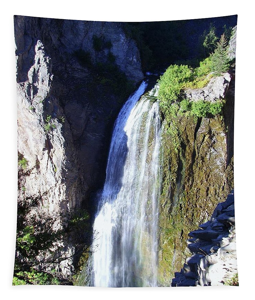 Waterfalls Tapestry featuring the photograph Clear Creek Waterfall by Jeff Swan