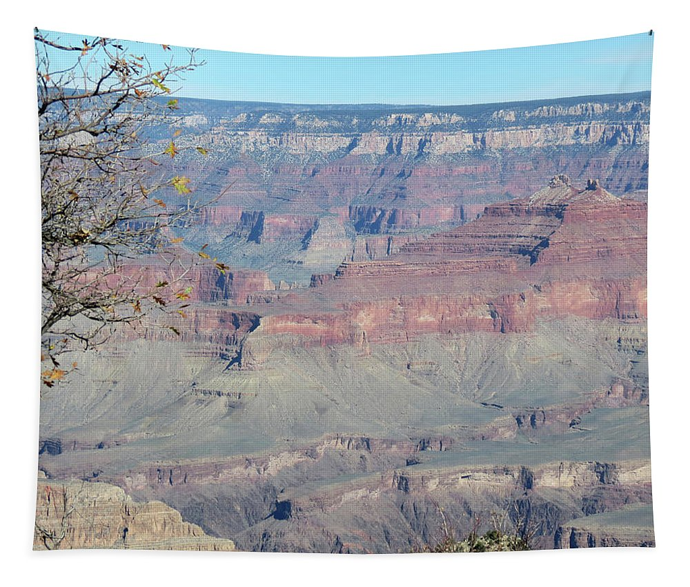 Nature Tapestry featuring the photograph Clear Day At The South Rim by Laurel Powell