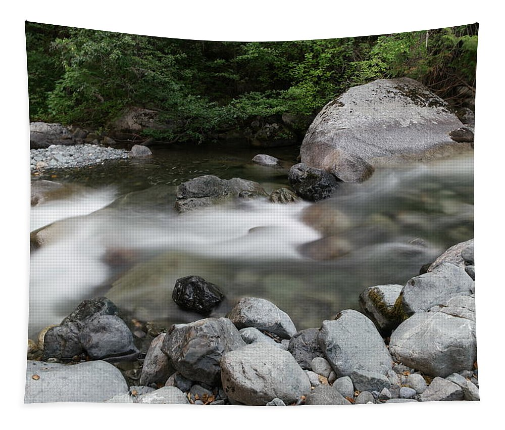 River Tapestry featuring the photograph Clear Rapids by Jeff Swan