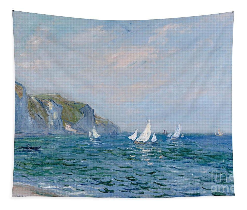 Art Tapestry Monet Sailing Boat Print Wall Hanging Decor