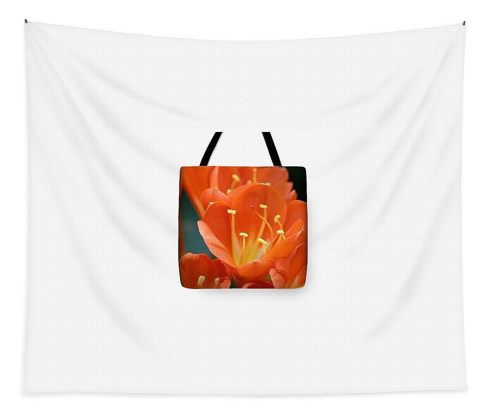 Flowers Tapestry featuring the photograph Clivia Tote Bag by Karen Silvestri