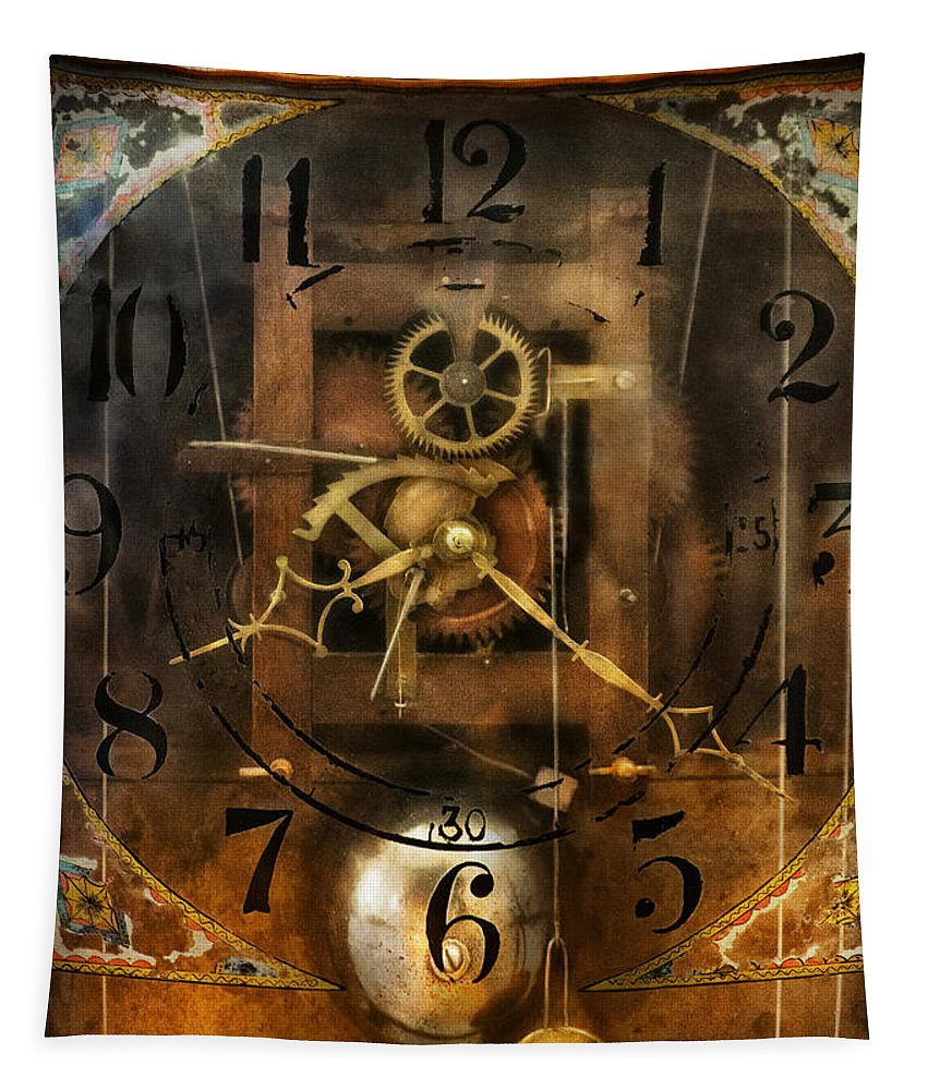 Clockmaker Tapestry featuring the photograph Clockmaker - A Sharp Looking Time Piece by Mike Savad